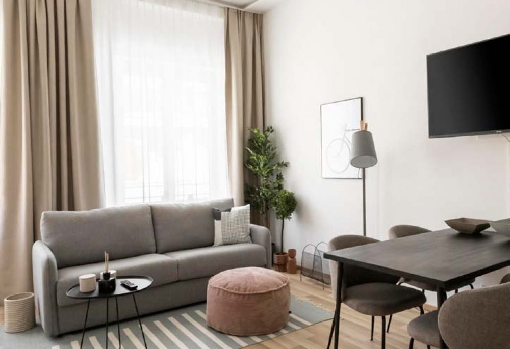 Living room of typical Limehome Apartment